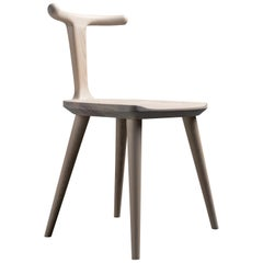 Oxbend Chair, Dining Seat in White Ashwood by Fernweh Woodworking