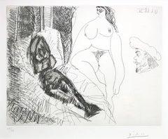 Pablo Picasso, Deux Femmes Avec Voyeur from 347 Series, etching