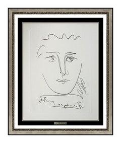 Pablo Picasso Etching Pour Ruby Tete Portrait Signed Authentic Cubism Artwork