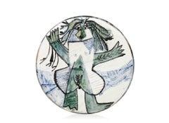 Pablo Picasso Madoura Ceramic Plate - Femme échevelée Ramié 509