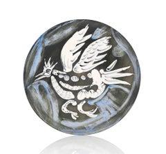 Pablo Picasso Madoura Ceramic Plate- Oiseau no. 91 Ramié 485