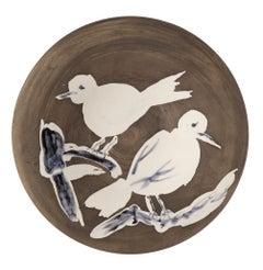 Pablo Picasso Madoura Ceramic Plate-Oiseaux n. 95 Ramié 487