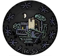 Pablo Picasso Madoura Ceramic Plate - Paysage Ramié 208