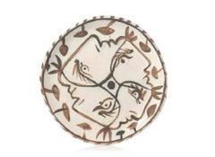 Pablo Picasso Madoura Ceramic Plate - Quatre profils enlacés, Ramié 88