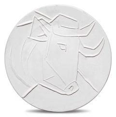 Pablo Picasso Madoura Ceramic Plate - Tête de taureau Ramié 329