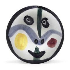 Pablo Picasso Madoura Ceramic Plate - Visage no. 0 Ramié 458