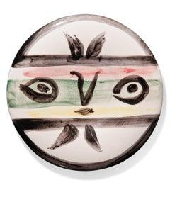 Pablo Picasso Madoura Ceramic Plate - Visage no. 101 Ramié 475
