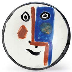 Pablo Picasso Madoura Ceramic Plate - Visage No. 193 Ramié 493