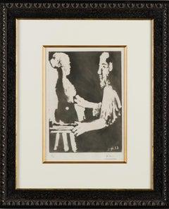"""""""Sculpteur au Travail"""" from Sable Mouvant by Pablo Picasso, 1964"""