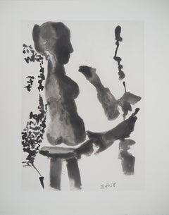 Sculptor before His Sculpture Stand - Original Aquatint Etching (Bloch #1191)