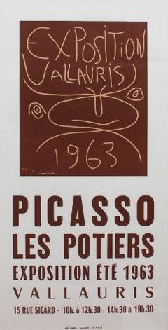 Vintage Vallauris Ceramics Poster by Pablo Picasso and Arnéra Printers (1963)