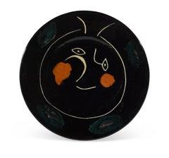 Pablo Picasso Madoura Ceramic Plate - Service Visage Noir, Ramié 47