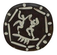 Pablo Picasso Madoura Ceramic Plate - Two dancers, Ramié 380