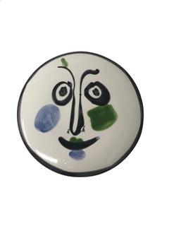 Pablo Picasso Madoura Ceramic Plate - Visage no. 197 , Ramié 494