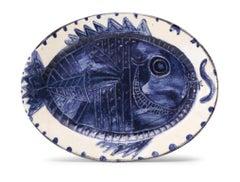 Pablo Picasso Madoura, Poisson de profil, Glazed ceramic plate