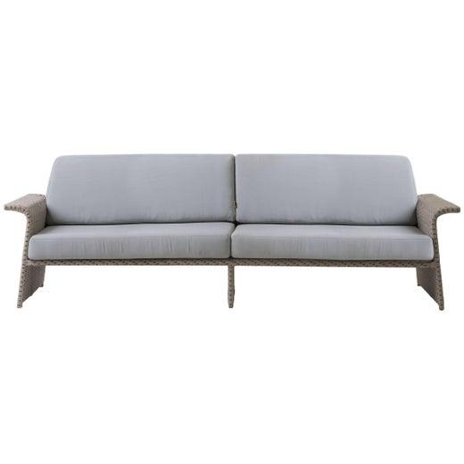 Paineiras Brazilian Contemporary Woven Fiber Outdoor Sofa by Lattoog