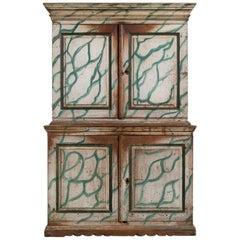 Painted Wooden Cupboard, Sweden, circa 1800