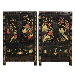 Pair of 19th Century Chinese Painted Cabinets