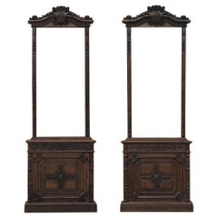 Pair of 19th Century Library, Bookcase Built-In Cabinets