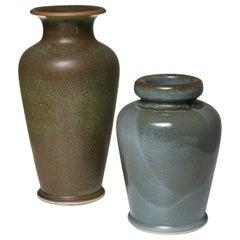 Pair of Ceramic Vases by Franco Bucci for Laboratorio Pesaro
