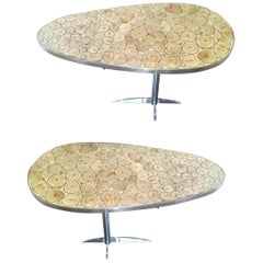 Pair of Contemporary Italian Coffee Table or Side Table
