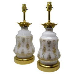 Pair of French Patinated Bronze, Ormolu Electric Table Lamps, Late 19th Century