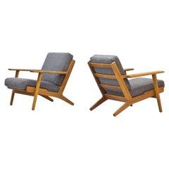 "Pair of ""GE-290"" Lounge Chairs by Hans Wegner for GETAMA"