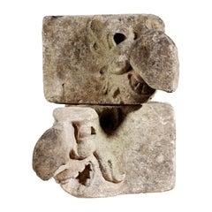 Pair of Gothic Limestone Beaked Grotesques, English, circa 1450