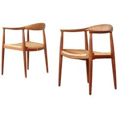 Pair of Hans Wegner the Chair, Model JH501, Johannes Hansen, 1950s-1960s