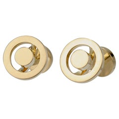 Pair of Hermes 18 Karat Gold Cufflinks