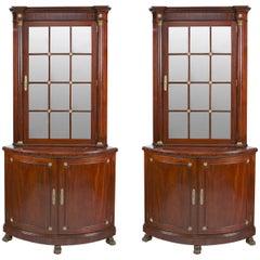 Pair of Irish 19th Century Corner Cabinets