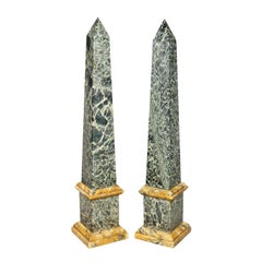 Pair of Italian Grand Tour Marble Obelisks