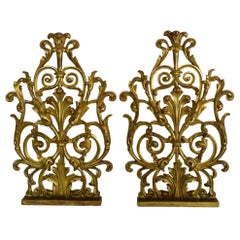 Pair of Large 18th Century Italian Giltwood Baroque Ornaments
