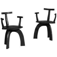 Pair of Modern Handcrafted Armchair 80/20 by Vincent Vincent