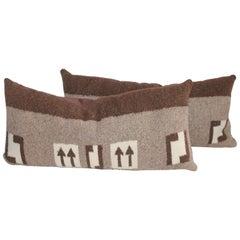 Pair of Navajo Indian Weaving  Arrow Pillows
