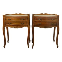 Pair of Nightstands Side Cabinets French Bedside Tables Louis Revival