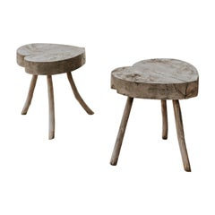 Pair of Quirky Heartshaped Tables