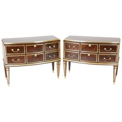 Pair of Russian Neoclassic Commodes