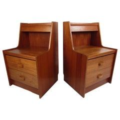 Pair of Teak Midcentury Nightstands by R.S. Furniture Inc.
