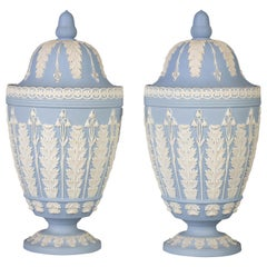 Pair of Wedgwood Covered Potpourri Urns, circa 1880