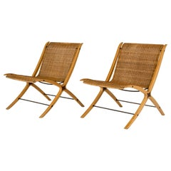 "Pair of ""X"" lounge chairs by Peter Hvidt and Orla Møllgaard"