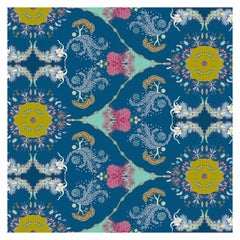 Paisley Paramecium Wallpaper in Indigo