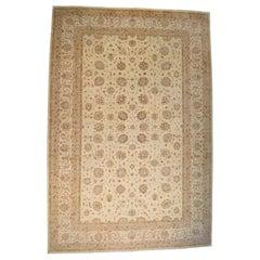 Palace Size Antiqued Tabriz Design Peshawar Hand Knotted Rug