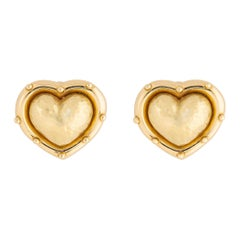 Paloma Picasso for Tiffany & Co. Gold Heart Motif Earrings