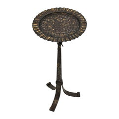 Parcel-Gilt Wrought Iron Drinks Table Gueridon or End Table, Spain, 1940s