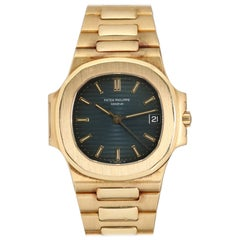 Patek Philippe 18 Karat Yellow Gold Nautilus Ref 3800/1 with Archive, circa 1982