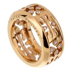 Patek Philippe Diamond Gold Calatrava Ring