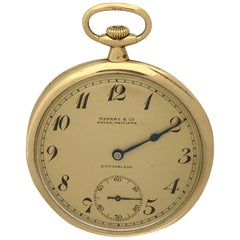 Patek Philippe for Tiffany & Co. Gents Gold Pocket Watch with Original Box