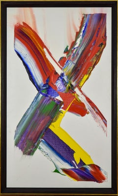 """Phenomena Cross Beam Light"" by PAUL JENKINS - Abstract, Contemporary, Acrylic"