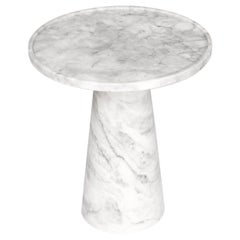 Pedestal, White Marble Side Table